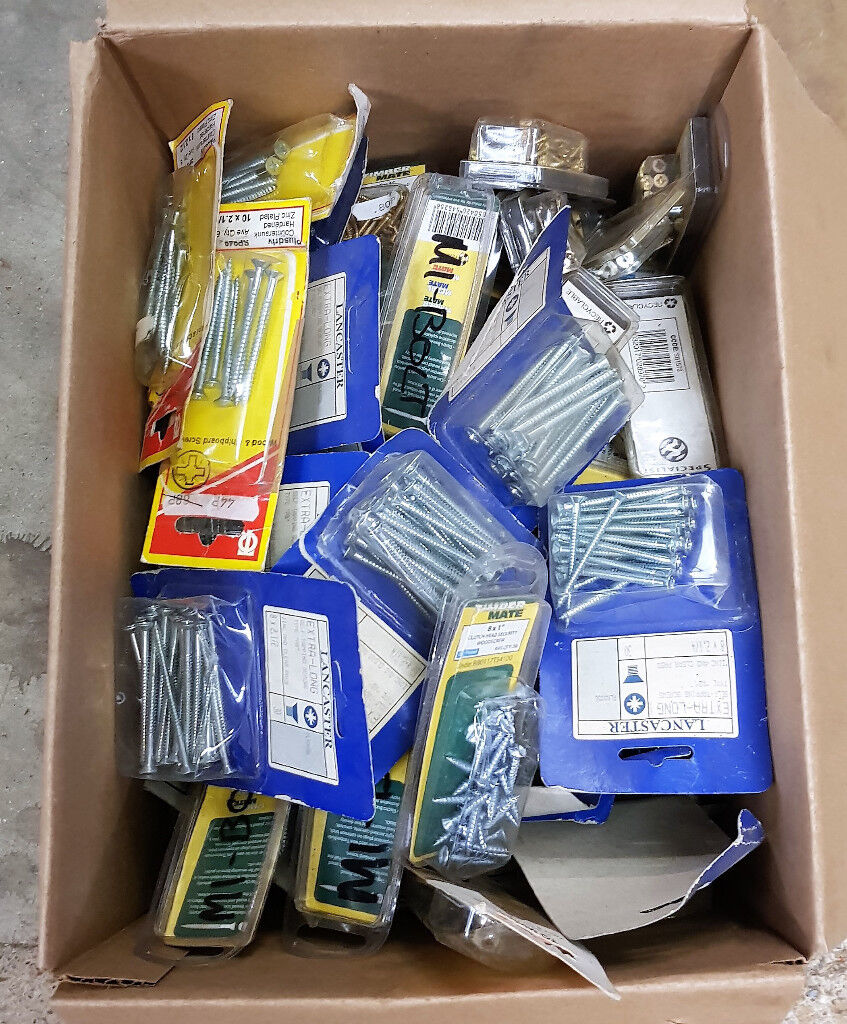 Job lot of 1000's Nuts, Bolts, Screws, Washers etc Various Sizes