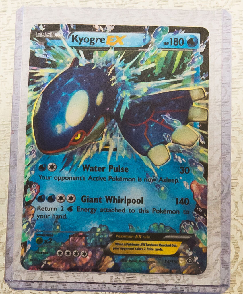 Primal Kyogre Card pokemon kyogre ex 54/160 - xy primal clash - ultra rare holo card