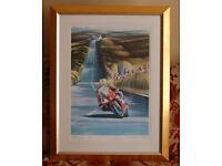 Joey Dunlop - Stunning Framed Limited Edition Print - Verner Finlay