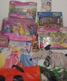 Brand new disney store toys, mainly for girls
