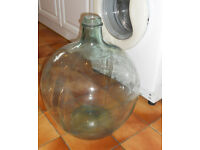 Very Large Decorative Clear Glass Carboy