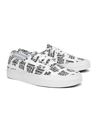 Mens Vans x Baron Von Fancy Shoes SZ 5 White Black - White Fancy Shoes