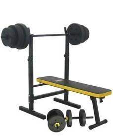 Everlast multi purpose bench with 100kg weights (Brand new and boxed)