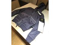 Stone island Mussola gommata jacket purple mens small new with tags RRP £575