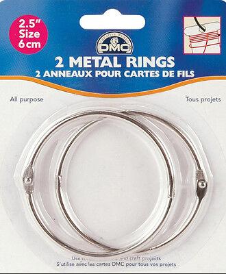"""DMC ~ (2) 2 1/2"""" Metal Craft Rings (for floss bobbins) #6110"""