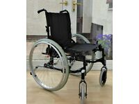 INVACARE ACTION 2NG LIGHTWEIGHT SELF-PROPELLING FOLDING WHEELCHAIR WIDE SEAT