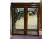 Dark Wood Glass Cabinet
