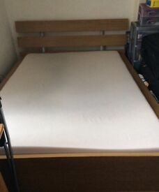 Quick sale ikea double bed with memory foam mattress