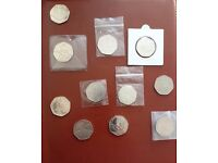 FIFTY PENCE COINS