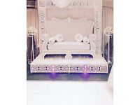 Wedding Engagement Stage - Backdrops / Bridal Sofas / Throne Chairs / Flower Stands /Stage Set Up