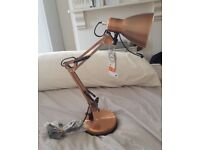 Copper Desk Lamp – Brand New