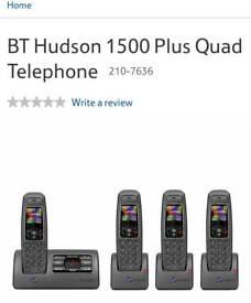 Phone with answering machine Quad set