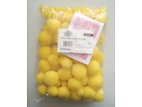 100 Poms in Assorted Sizes, Easter Yellow