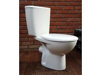 Toilet pan and cistern - while