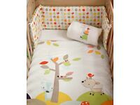Baby cot bumper from mamas and papas