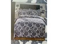 Double bedspread set with cushion covers and pillow shams new unopened unused