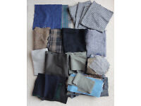 Job Lot Pieces 100% Wool & Wool/Cashmere Fabric craft, patchwork, rugs, buttons