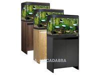 FLUVAL ROMA LED AQUARIUMS 200L BLACK NEW CABINET FISH TANK WITH AMPLE ACCESSORIZE