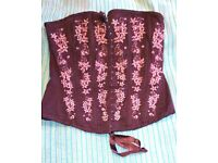 Lovely basque with beads and flower patterns. |Size 8