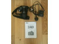 Nikon D40 Digital camera for sale in excellent condition - perfect for beginners £120.00