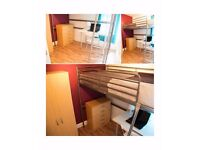 Single Bed in Colorful Rooms in 6 Bedroom Apartment Near City University London in Shoreditch