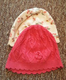 BABY GIRL HAT 3-6MONTHS