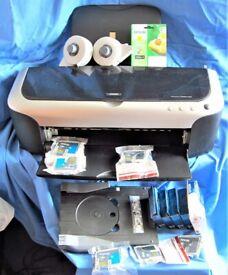 Epson Photo Stylus A3 Photo Printer,Roll Feeder & CD Printer Tray,Inks&10 spares