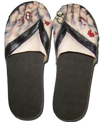 MEDIUM CREEPY ZOMBIE FEET  sandals costume big foot shoes MONSTERS slippers - Big Feet Costume