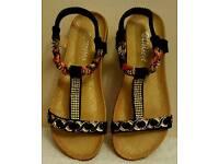 open toe summer flat sandals