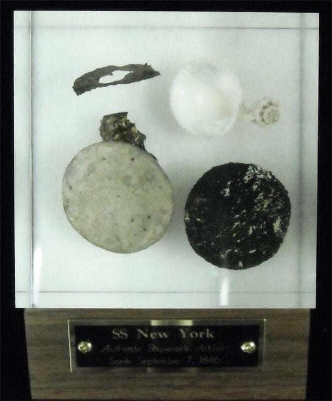 SS New York Authentic Shipwreck Artifact with Certificate