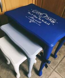 Upcycled nautical nest of tables