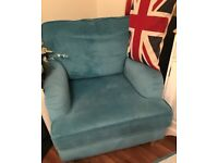 3 seater sofa chair & foot stall