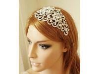 Statement Bridal Headpiece Hair Accessory Comb Crystal Swarovski Pearl high end head piece SAMPLE