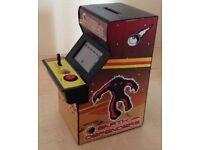 Retro Arcade Money Box with Earth Defenders Arcade Game
