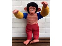VINTAGE CHAD VALLEY -JACKO THE MONKEY- LARGE C1960's SOFT TOY BEAR DOLL BEAR