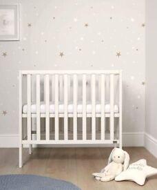 Mamas & Papas Petite Baby Cot + Mattress - Pure White