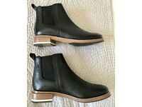Whistles black leather ankle boots (size 41) worn once in perfect condition