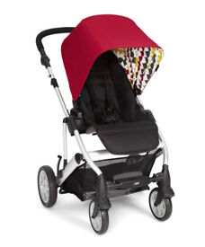 Mamas and papas, pixo push chair, red balloons, boxed, new,