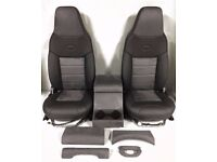 Land Rover Defender Premium Front Seats Leather/suede Cubby, Handles, Dash trims