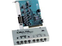 M-Audio delta 44 PCI audio interface. Four in, four out.