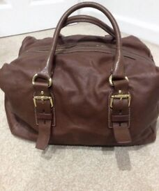 Zara large brown soft leather weekend style bag £30 collection only