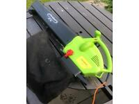 Powerful electric leaf blower garden vacuum with collection bag lawnmowers trimmers mowers