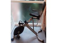 pro fitness recumbent folding exercise bike used