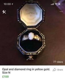 Ladies Gold and genuine gemstone rings