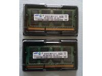 Samsung 2 Ram memory slots 4GB in total (2x2Gb) DDR3 (8500) for MacBook pro