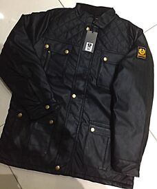 Brand New With Tags Men's Belstaff Wax Cotton Leather Jackets £40