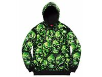 Supreme Skull Pile Hooded Sweatshirt Glow in the Dark