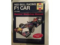 Vettel and Webber signed Red Bull F1 car Haynes Manual