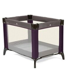 Mamas and Papas Travel Cot (Plum) and Accessories