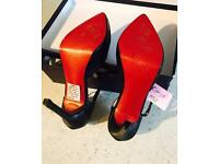 Black Mary Jane with red sole size 3
